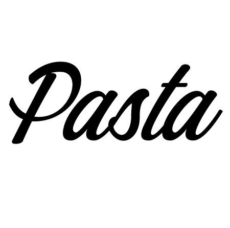 pasta label on white background