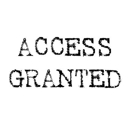 access granted black stamp, sticker, label, on white background