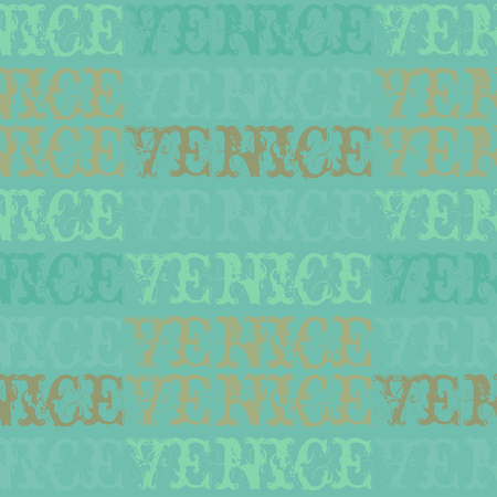 Venice, Italy seamless pattern, typographic city background, texture.