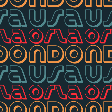 Orlando, USA seamless pattern, typographic city background, texture.