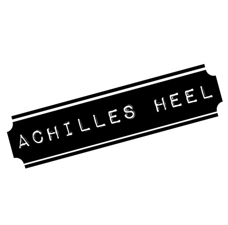 achilles heel black stamp, sticker, label, on white background Çizim