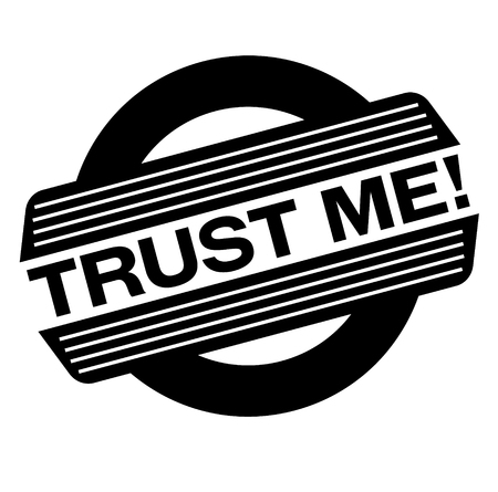 trust me black stamp, sticker, label, on white background 向量圖像
