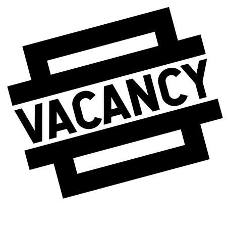 vacancy black stamp, sticker, label on white background Ilustração