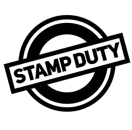 stamp duty black stamp, sticker, label, on white background