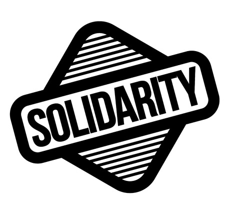 solidarity black stamp, sticker, label on white background Foto de archivo - 125724669