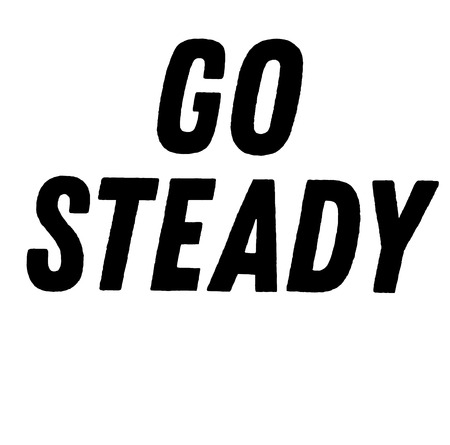 go steady stamp on white background. Sign label sticker. Ilustrace