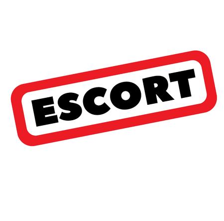 escort stamp on white background. Sign label sticker. Illustration