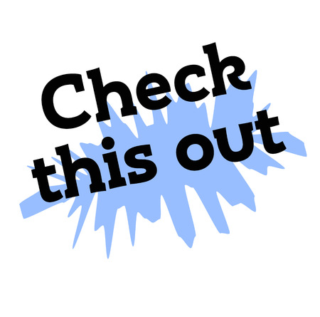 check this out stamp on white background. Sign label sticker.