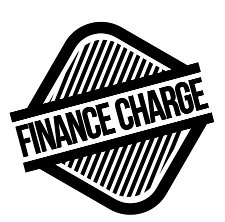 Financial Charge black stamp on white background. Flat illustration Ilustrace