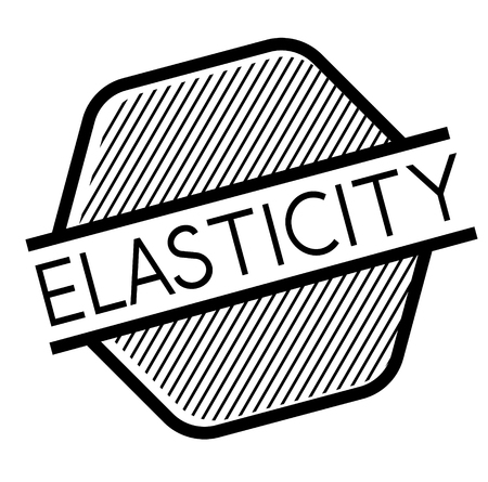 Elasticity black stamp on white background. Flat illustration