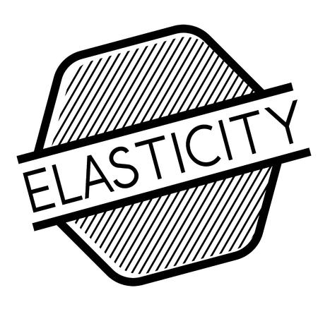 Elasticity black stamp on white background. Flat illustration