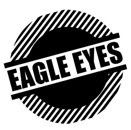 Eagle eyes stamp on white