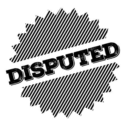 Disrupted black stamp on white background. Flat illustration