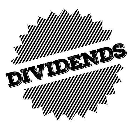 Dividends black stamp on white background. Flat illustration Illustration