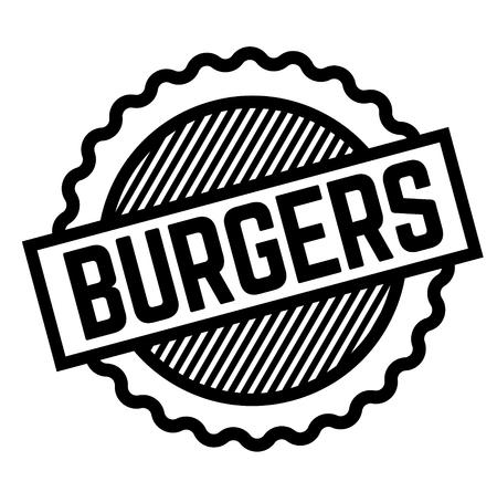 Burgers black stamp on white background. Flat illustration Stock fotó - 124418000