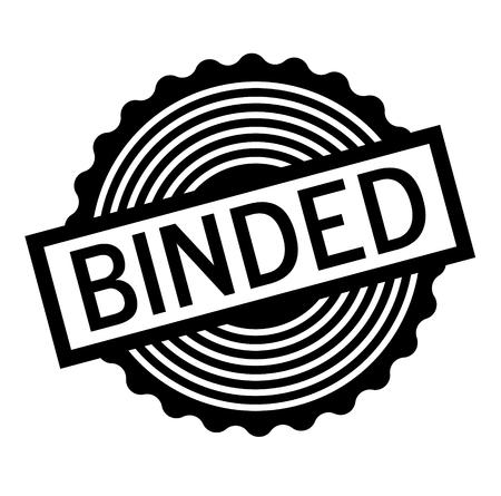 Binded black stamp on white background. Flat illustration Illustration