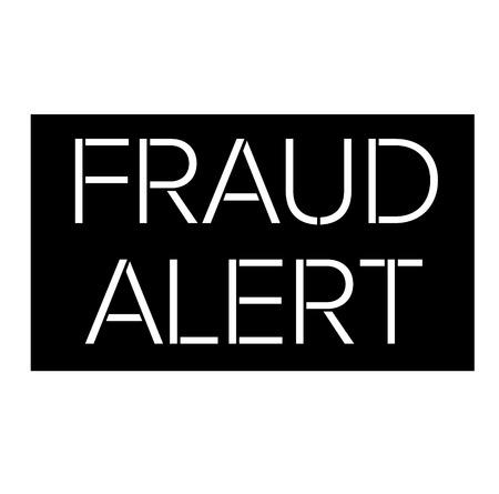 Fraud Alert black stamp on white background. Flat illustration Illustration