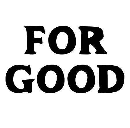 For good black stamp on white background. Flat illustration