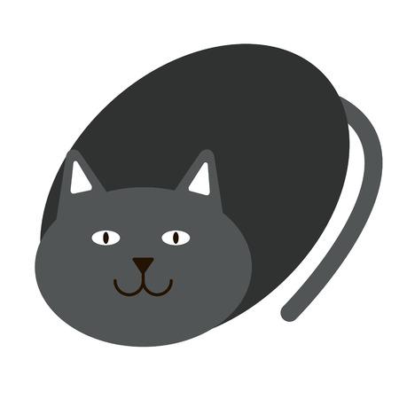 cat flat illustration, element of design. Domestic cat simple image