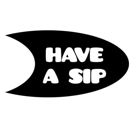 have a sip black stamp on white background. Flat illustration
