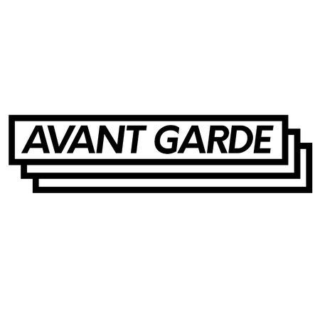 avant garde stamp on white