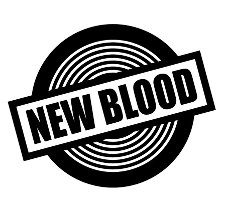 New blood black stamp on white background. Flat illustration