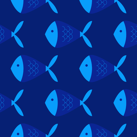 Fish geometric pattern. Simple colour design, easy to recolor.