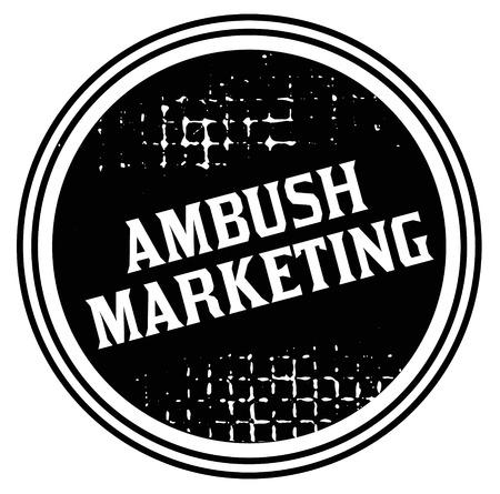 ambush marketing advertising sticker, label, stamp on white