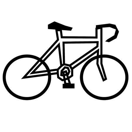 Bicycle flat illustration on white