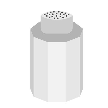 salt shaker flat illustration on white