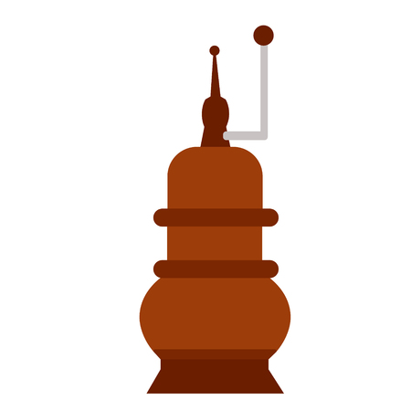 pepper grinder flat illustration on white Stock Illustratie
