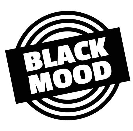 Print black mood stamp on white  イラスト・ベクター素材