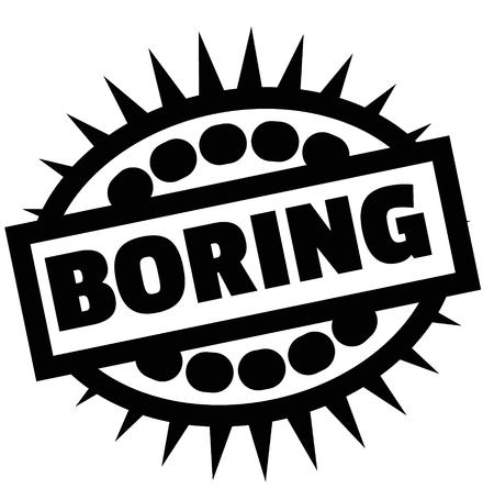 Print boring stamp on white 向量圖像