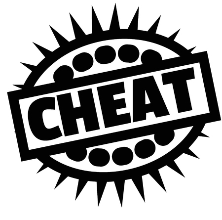 Stampa cheat stamp su bianco Vettoriali