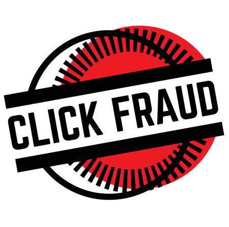 Imprimer le timbre de fraude de clic sur le blanc
