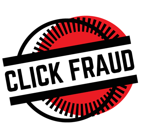 Print click fraud stamp on white