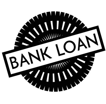 Print bank loan stamp on white Ilustrace