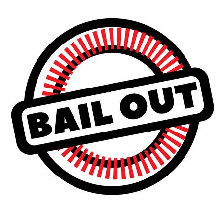 Print bail out stamp on white Illusztráció