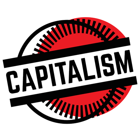 Print capitalism stamp on white