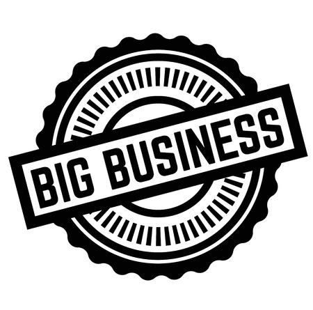 Print big business stamp on white Illustration