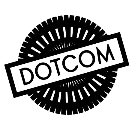 Print dotcom stamp on white