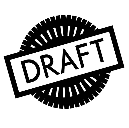 Print draft stamp on white Vettoriali