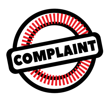 Print complaint stamp on white Stockfoto - 119437725