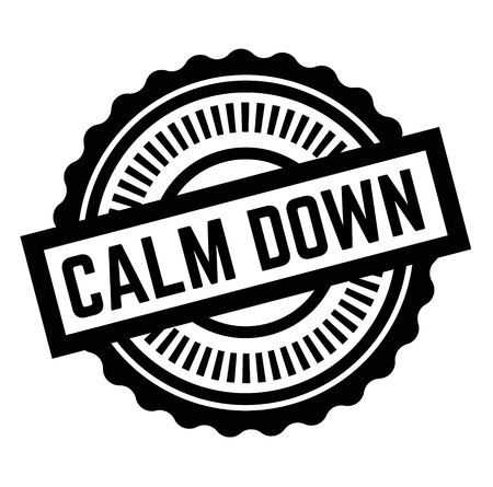 Print calm down stamp on white