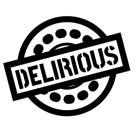 Print delirious stamp on white