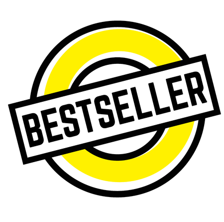Print bestseller stamp on white