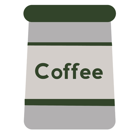 Pot of coffee flat illustration on white Иллюстрация