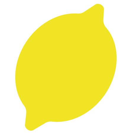Lemon flat illustration on white. Home kitchen and food object series. Vektorgrafik