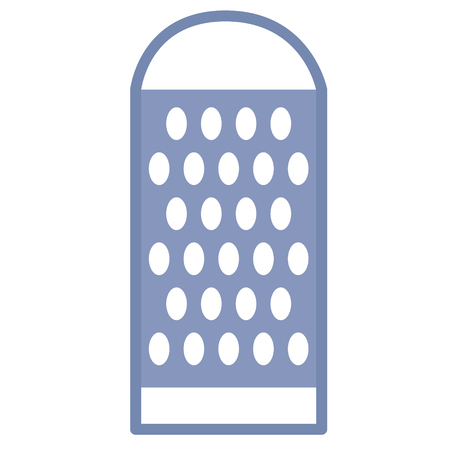 grater flat illustration on white. Kitchen and food series.