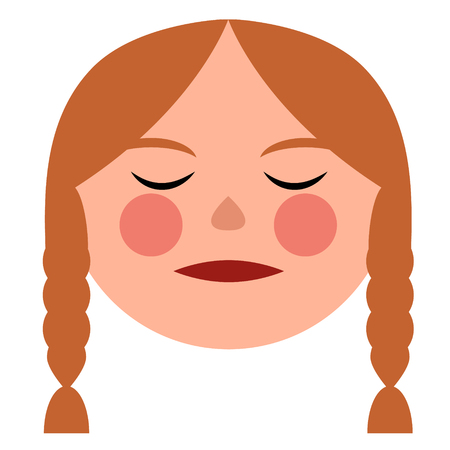woman face flat illustration on white. Lifestyle and fashion series.